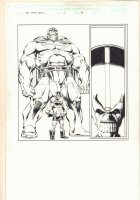 Infinity Abyss #1 p.38 - Giant and Tiny Thanos Dopplegangers - 2002 Comic Art