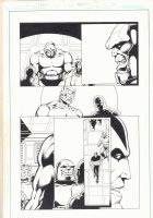 Death of the New Gods #3 p.20 - Darkseid and Orion - Jack Kirby's 4th World - 2008 Comic Art