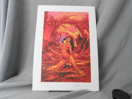 Vampirella in Hell - Color Print #71/1000 Comic Art