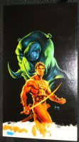 Warlord of Mars #21 Painted Art Variant Cover - John Carter with Thark in Background - LA - 2012 Comic Art