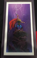 Mighty Thor #12 Painted Cover - Awesome Thor Calling Lightning - 1996 Signed Comic Art