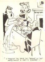 Breaking in the Maid  Gag - 1959 Humorama  Comic Art
