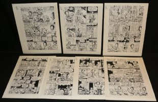 Details about  Dr. Atomic  Remote Control  Rip Off Press Story 7 Pages of STATs  Comic Art
