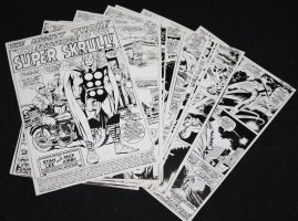 Thor #142 Vintage Production STATS - Thor in 'The Scourge of the Super-Skrull!' Complete 16 Page Story - 1967 Comic Art