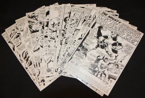 Avengers #41 Vintage Production STATS - 'Let Sleeping Dragons Lie!' Complete 20 Page Story - 1967 Comic Art