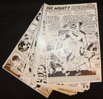 Avengers #43 Vintage Production STATS - 'Color Him... the Red Guardian!' Complete 20 Page Story - 1967 Comic Art