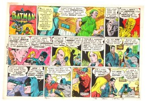 Batman with Robin the Boy Wonder Sunday Strip Color Guide and Negative - Evil Doctor - 1/5/1969 Comic Art