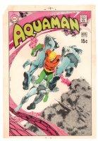 Aquaman #52 Cover Proof - 1970 Comic Art