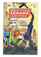 Justice League of America #73 Cover Proof - 1969 Comic Art
