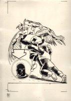 Daredevil #11 Cover Printing Acetate - Ape Man, Bird Man, & The Organizer - Original Artist: Wally Wood - 1965 Comic Art