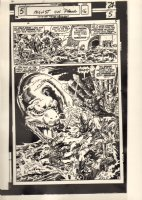 Monsters on the Prowl #16 p.4 Printing Acetate - Foreign Publisher - King Kull - Original Artists: John & Marie Severin - 1972 Comic Art