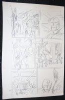 Avengers Prelim p.6 - Captain America and Vision Comic Art