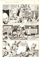 Savage Sword of Conan #91 p.13 - King Ronal and Queen Rhalina - 1983 Comic Art