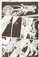 Blood of the Demon #6 p.13 - Jason Blood Action vs. Monster - 2005 Signed Comic Art