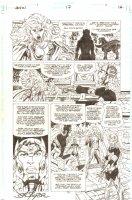 Jack Kirby's Fourth World #17 p.16 - Valkyra and Tigra - 1998 Signed Comic Art