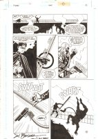 Batman #555 p.18 - Robin knocks down Ratcatcher - 1998 Double Signed Comic Art