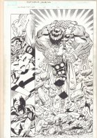 Wolverine: First Class #15 p.20 - Thor Action Splash - 2009 Signed Comic Art