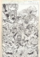 Deadpool's Art of War #2 p.14 - Loki's Horde Leaving Asgard Splash - 2014 Signed Comic Art