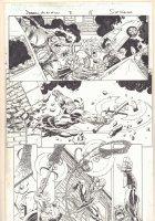 Deadpool's Art of War #2 p.18 - Spidey vs. the Executioner - 2014 Signed Comic Art
