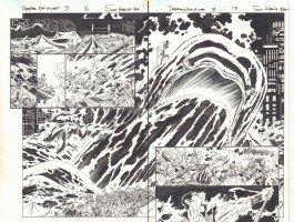 Deadpool's Art of War #3 pgs. 16 & 17 - Namor the Sub-Mariner vs. Surface World F4 Homage DPS - 2014 Comic Art