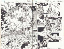 Deadpool's Art of War #4 pgs. 2 & 3 - Namor the Sub-Mariner the X-Men DPS - Cyclops, Magik, Storm, and Angel - 2014 Comic Art