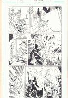 Rann / Thanagar Holy War #4 p.23 - Starman and Adam Strange - 2008 Signed Comic Art