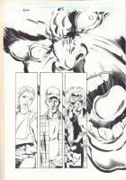 Hulk #5 p.1 - Hulk and Others - 1999 Signed  Comic Art