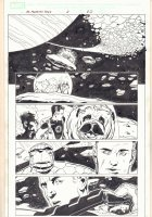 Marvel Adventures Fantastic Four #8 p.20 - The F4 and Lockjaw - 2006 Signed Comic Art