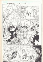 Marvel Adventures Fantastic Four #10 p.17 - The F4 and Black Panther in Wakanda - 2006 Signed Comic Art