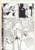 Marvel Adventures Fantastic Four #40 p.5 - Iron Man Suiting Up Splash - 2008 Signed Comic Art