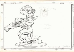 Spider-Man vs. Venom Statue Design Artwork - Signed  Comic Art