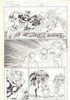 The Last Fantastic Four Story #1 p.27 - Captain America, Thor, Vision, Doctor Strange, Iron Man, and Professor Xavier Action - 2007 Comic Art