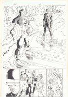 Avengers vs. X-Men #1 p.26 - Cyclops, Captain America, Magneto, Colossus, Namor the Sub-Mariner, and Emma Frost Splash - 2012  Comic Art