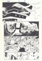 Avengers vs. X-Men #2 p.3 - Colossus Action vs. Wolverine, Thing, Black Panther, Iron Fist, & More - 2012  Comic Art
