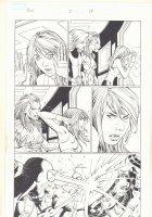 Avengers vs. X-Men #2 p.13 - Hope Summers, Captain America, Cyclops, and Iron Fist Action - 2012  Comic Art