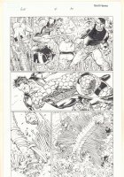 Avengers vs. X-Men #4 p.10 - Namor the Sub-Mariner, The Thing, and Luke Cage Fighting - 2012  Comic Art