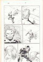Avengers vs. X-Men #1 p.17 - Magneto, White Queen, and Cyclops training Hope Summers - 2012  Comic Art