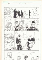 Avengers vs. X-Men #1 p.23 - Colossus, Emma Frost White Queen, Namor, Magneto, and Cyclops - 2012  Comic Art
