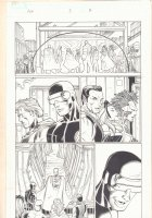 Avengers vs. X-Men #3 p.7 - Colossus, Emma Frost White Queen, Namor, Magneto, Storm, Magik, and Cyclops - 2012  Comic Art