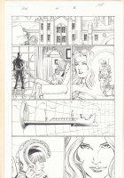 Avengers vs. X-Men #4 p.8 - Cyclops and Emma Frost White Queen - Cerebro - 2012 Signed Comic Art