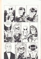 Avengers #14 p.3 - Spider-Man, Hawkeye, Wolverine, Ms. Marvel, & Spider-Woman - 2011 Signed Comic Art