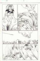 Avengers vs. X-Men #1 p.9 - Great Thor and Ms. Marvel - 2012 Signed Comic Art
