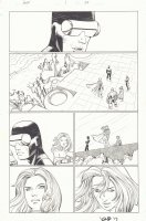 Avengers vs. X-Men #1 p.24 - Cyclops, Magneto, Colossus, Namor the Sub-Mariner, and Emma Frost - 2012 Signed Comic Art