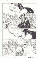 Avengers vs. X-Men #1 p.33 - Cyclops, Emma Frost, Namor, Cyclops, and Magneto - 2012 Signed Comic Art