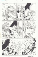 Avengers vs. X-Men #2 p.13 - Hope Summers, Captain America, Cyclops, and Iron Fist Action - 2012 Signed Comic Art