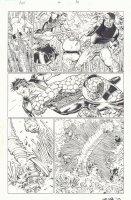 Avengers vs. X-Men #4 p.10 - Namor the Sub-Mariner, The Thing, and Luke Cage Fighting - 2012 Signed Comic Art