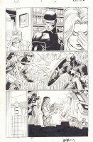Avengers vs. X-Men #4 p.14 - Emma Frost with Cyclops - Gambit vs. Captain America - Tony Stark - 2012 Signed Comic Art