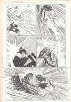 Captain America #2 p.12 - Cap Action vs. Monster - 2013  Comic Art
