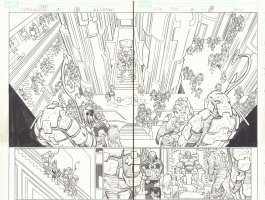Captain America #2 pgs. 18 & 19 - Throne Room DPS - 2013 Comic Art
