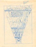 Origins of Marvel Comics by Stan Lee Cover Prelim - The Incredible Hulk - 1974 Comic Art